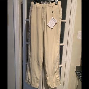 NWT Dries Van Noten cream tuxedo pants. Size 38